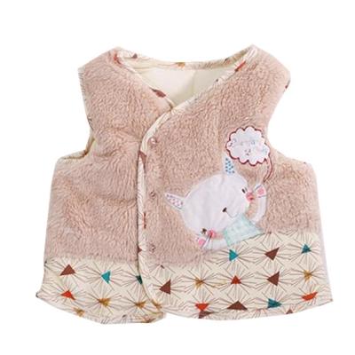 貓咪鋪棉背心外套 咖 k60269 魔法Baby