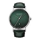 GEORG JENSEN 喬治傑生-KOPPEL系列經典時尚手錶-綠-41mm