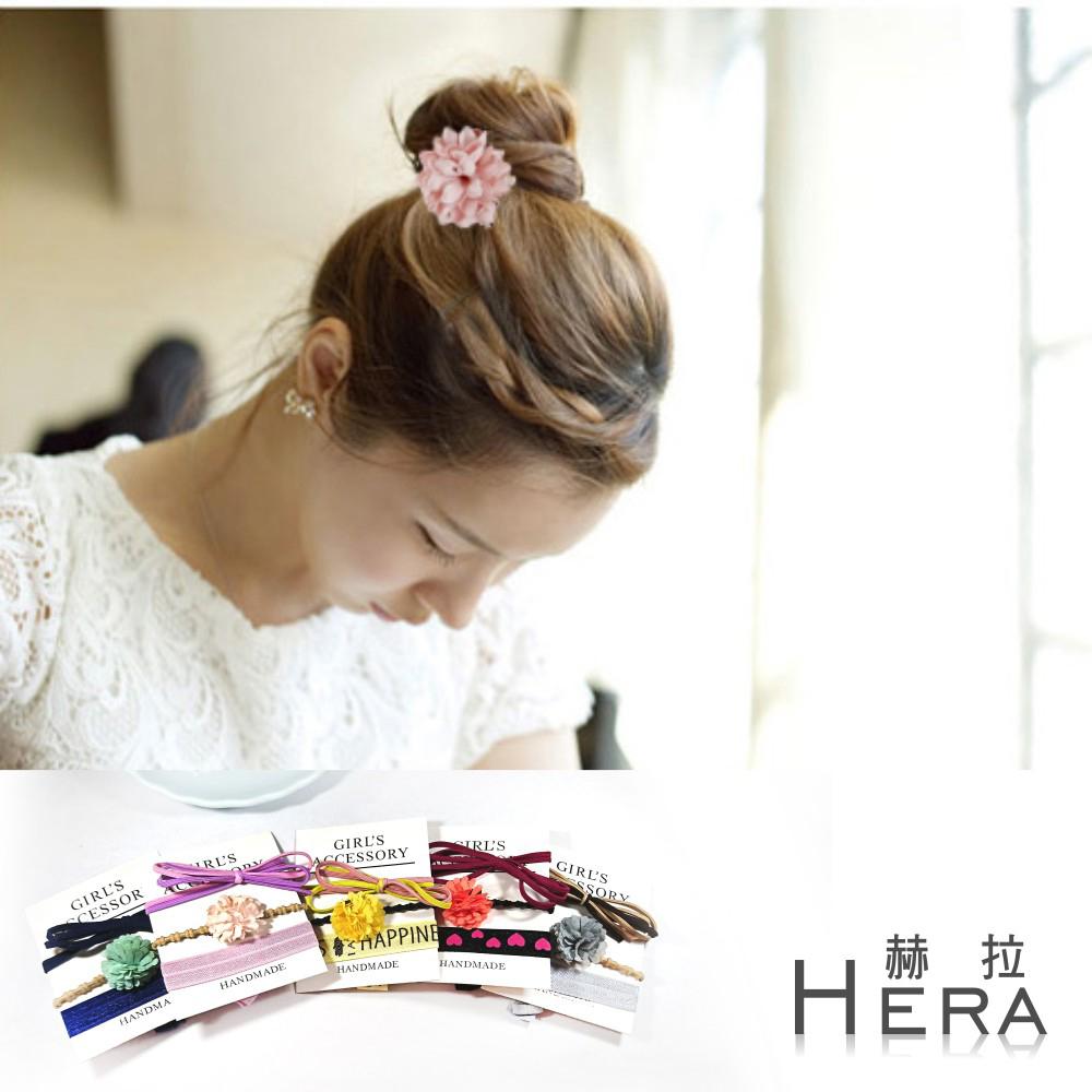 Hera  雪紡雛菊蝴蝶結打結髮繩/髮圈/髮束/三入組(5款)