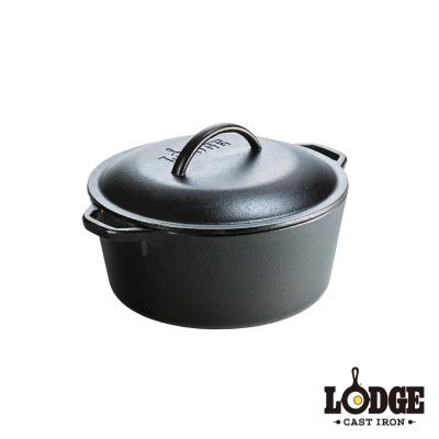 美國Lodge-鑄鐵荷蘭鍋-5Q-26公分