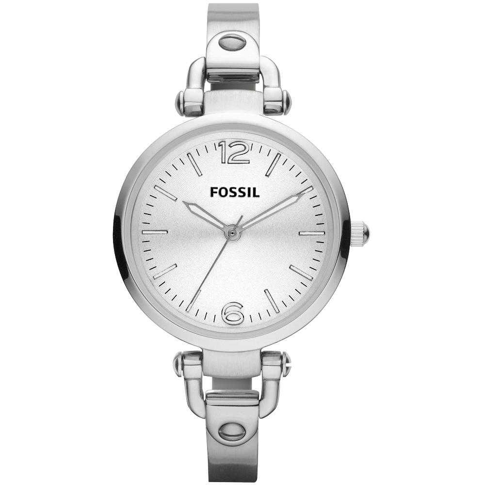 FOSSIL 俏皮女孩時尚腕錶-銀/32mm