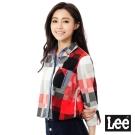 Lee 休閒長袖拼街襯衫-女-紅色