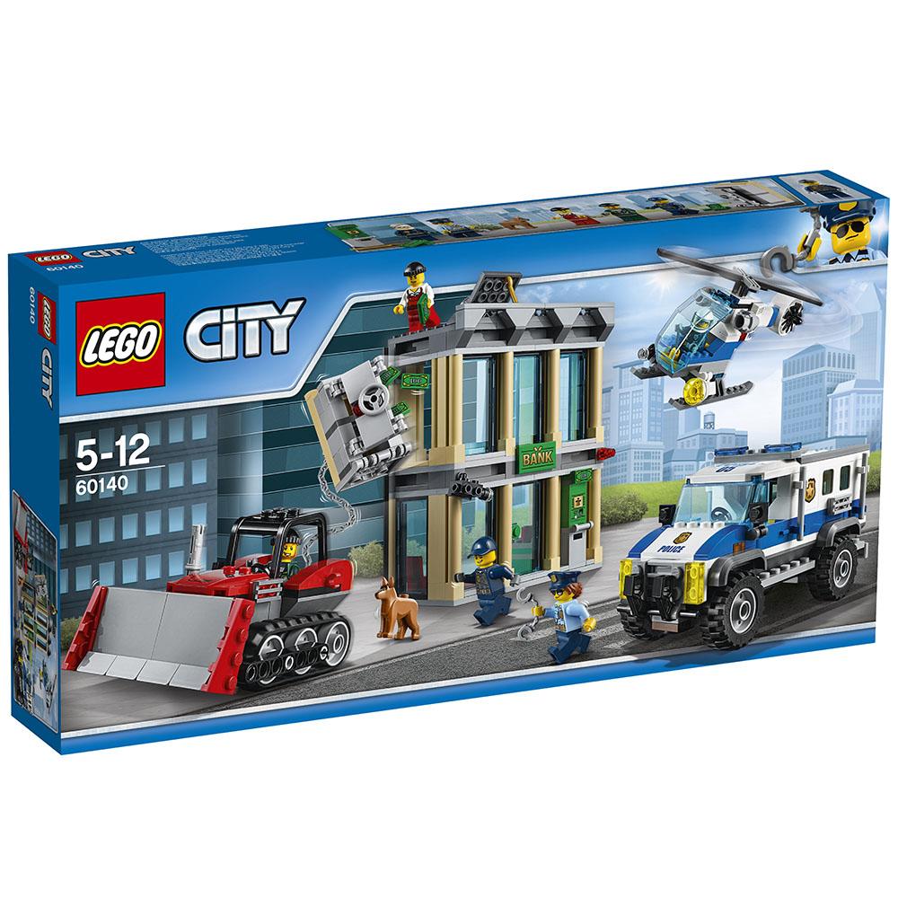 LEGO樂高城市系列60140推土機搶銀行5Y