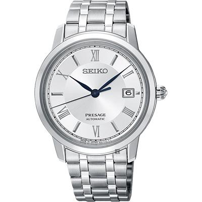 SEIKO精工 Presage 經典機械錶(SRPC05J1)-銀/39mm