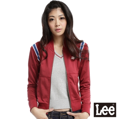 Lee-Sunset-Junction-運動型立領長袖薄外套-女款-暗紅