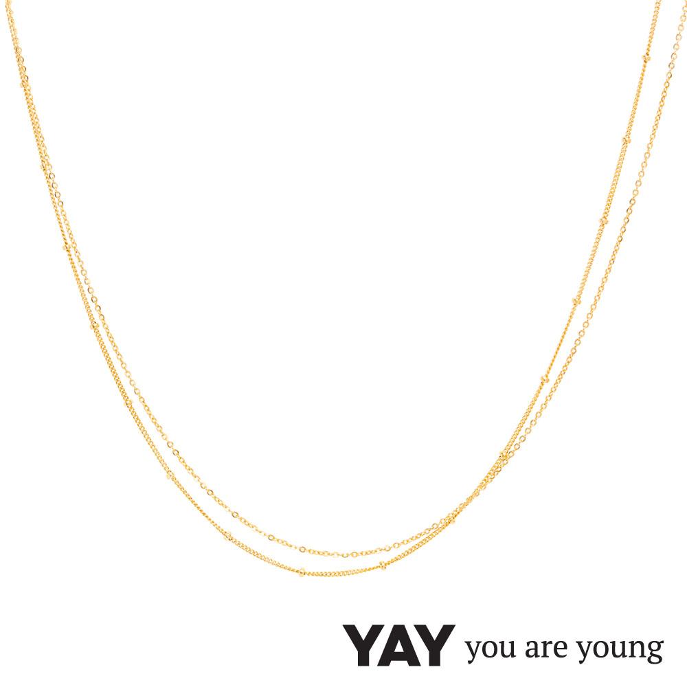YAY You Are Young 法國品牌 Stella 簡約項鍊 金色