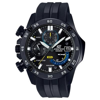 EDIFICE粗曠質感風螺絲釘造型賽車運動腕錶(EFR-558BP-1)紳士黑48.2mm