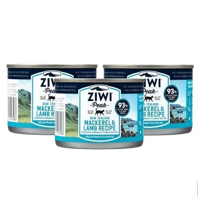 ZiwiPeak巔峰 93%鮮肉無穀貓主食罐 *鯖魚羊肉*185g-12件