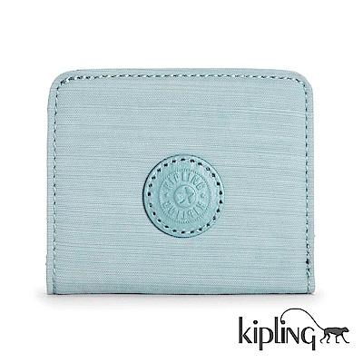 Kipling 零錢包 紋路質感淺藍-小