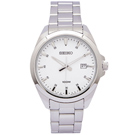 SEIKO 精工經典款男性手錶 (SUR205P1)-白面X銀色/42mm