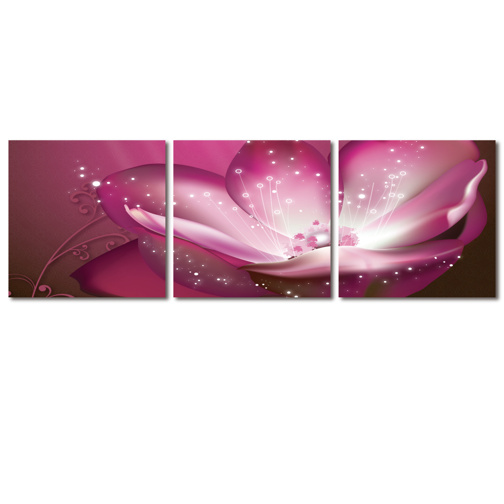 123點點貼- 三聯式無痕創意壁貼 - 浪漫紫 30*30cm