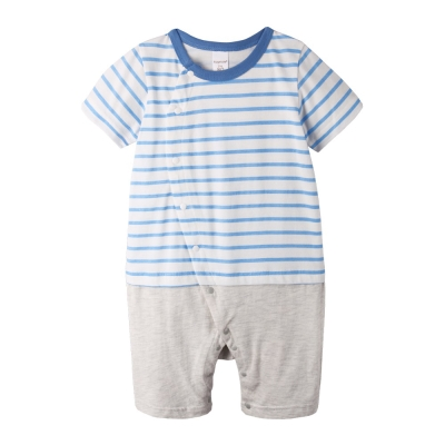 baby童衣-連身衣-條紋3色側開大屁屁平哈爬服6