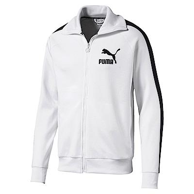 PUMA-男性流行系列復古T7立領外套-白-亞規