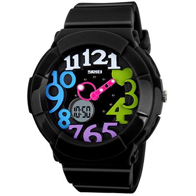 SKMEI 時刻美1020-雙機芯多功能防震防水電子錶