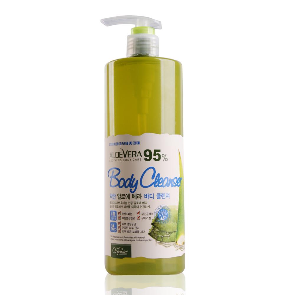 Organia歐格妮亞 蘆薈95%舒緩保濕沐浴露500g