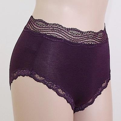 莎露 無勒痕 高腰蕾絲 M-LL 三角無痕褲(紫)