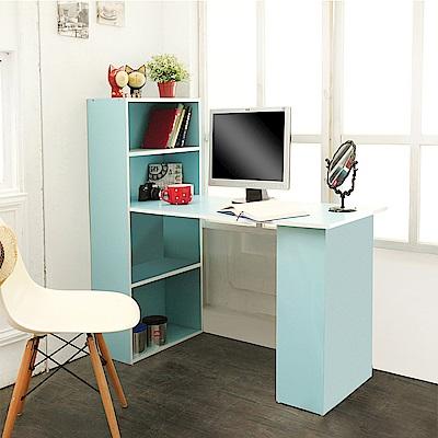 澄境 低甲醛環保漾彩雙向書櫃書桌(120X48X120cm)-DIY