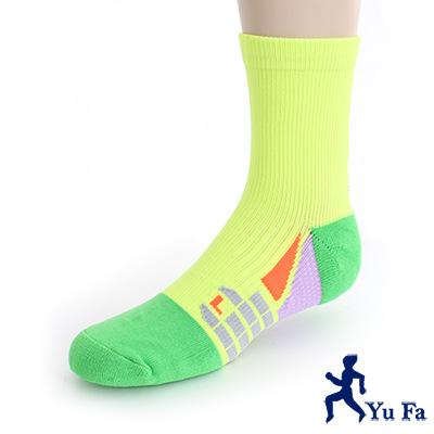 YuFa裕發 抗菌消臭環護足弓<b>1</b>/<b>2</b>運動襪(綠)