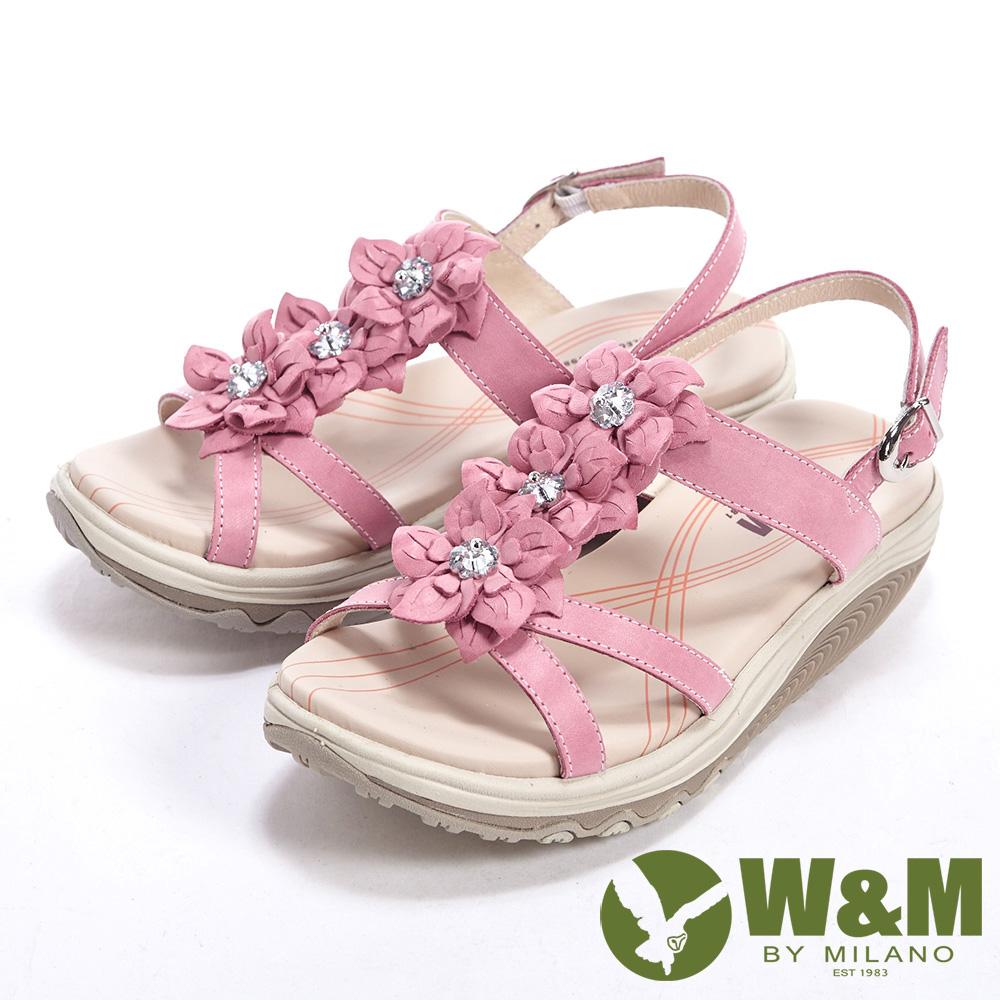 W&M 美麗三花扣環式涼鞋女鞋-粉
