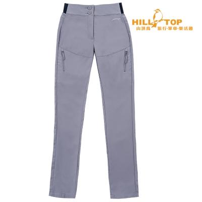 【hilltop山頂鳥】女款WS防風防小雨保暖長褲H31FK7石灰