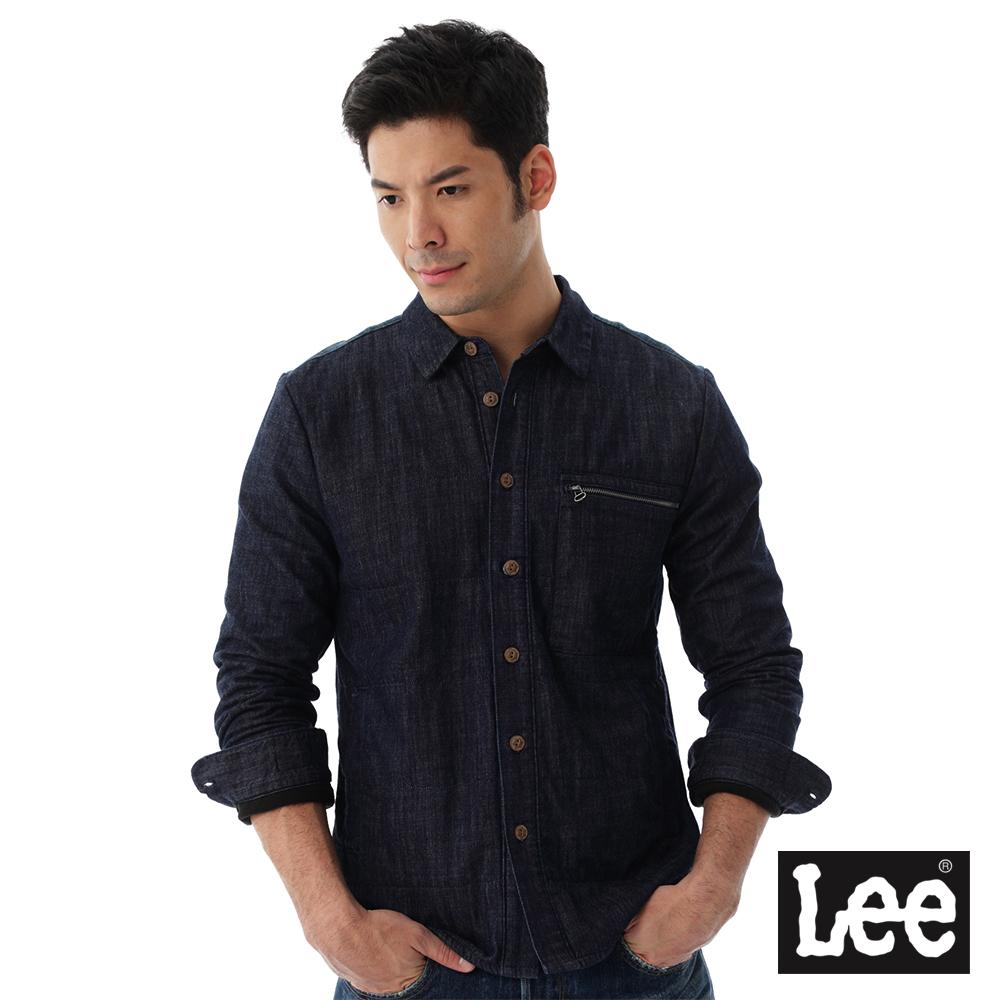 Lee 襯衫式牛仔外套Regional系列-男款-藍色