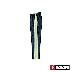 SASAKI 多功能保暖熱身運動長褲-男-丈青/艷綠