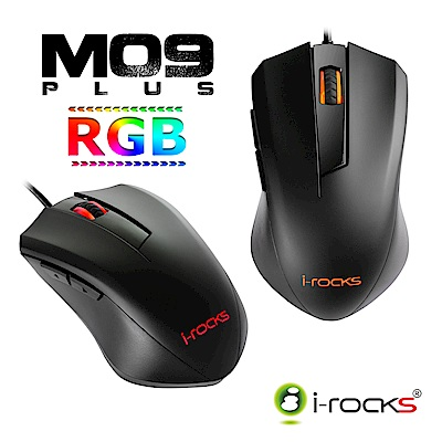 i-Rocks IRM09W RGB三段式DPI電競滑鼠