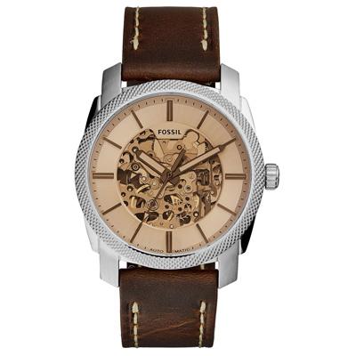 FOSSIL 時間天梯時尚經典機械錶-ME3115-43mm