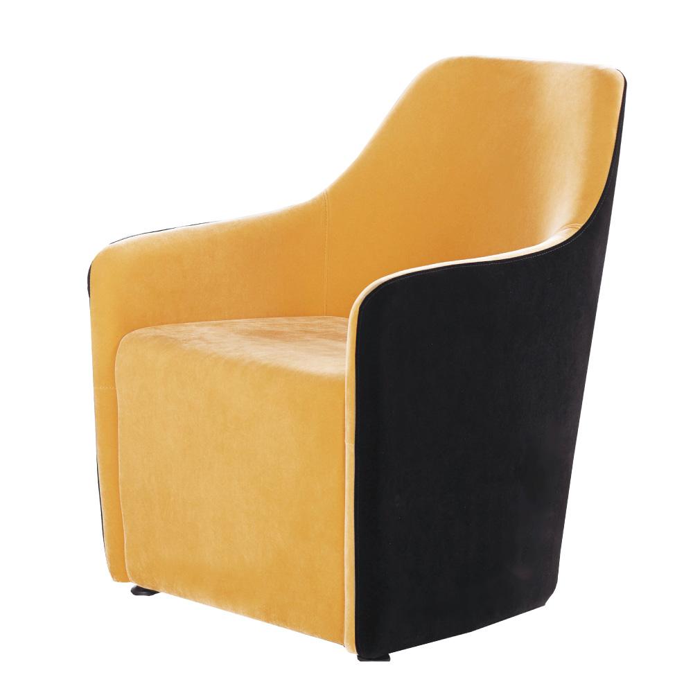 品家居 瑪特雙色亞麻布造型椅凳(二色可選)-63x69x85cm免組