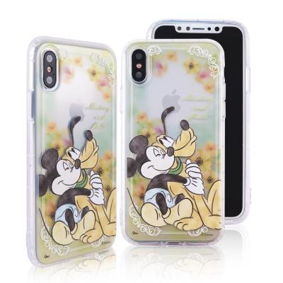 Disney迪士尼iPhone X水彩渲染花園防摔氣墊空壓保護套_經典系列