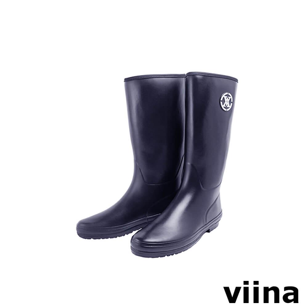 viina logo中筒雨靴-深藍