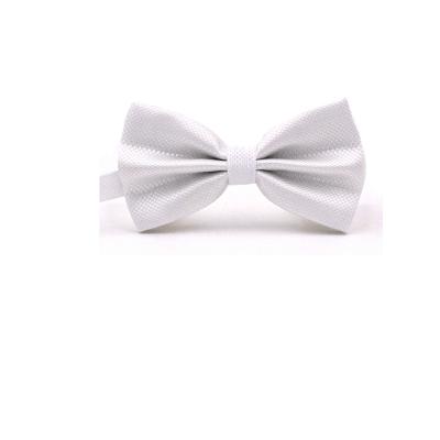 拉福 紋路領結新郎結婚領結糾糾(白色)