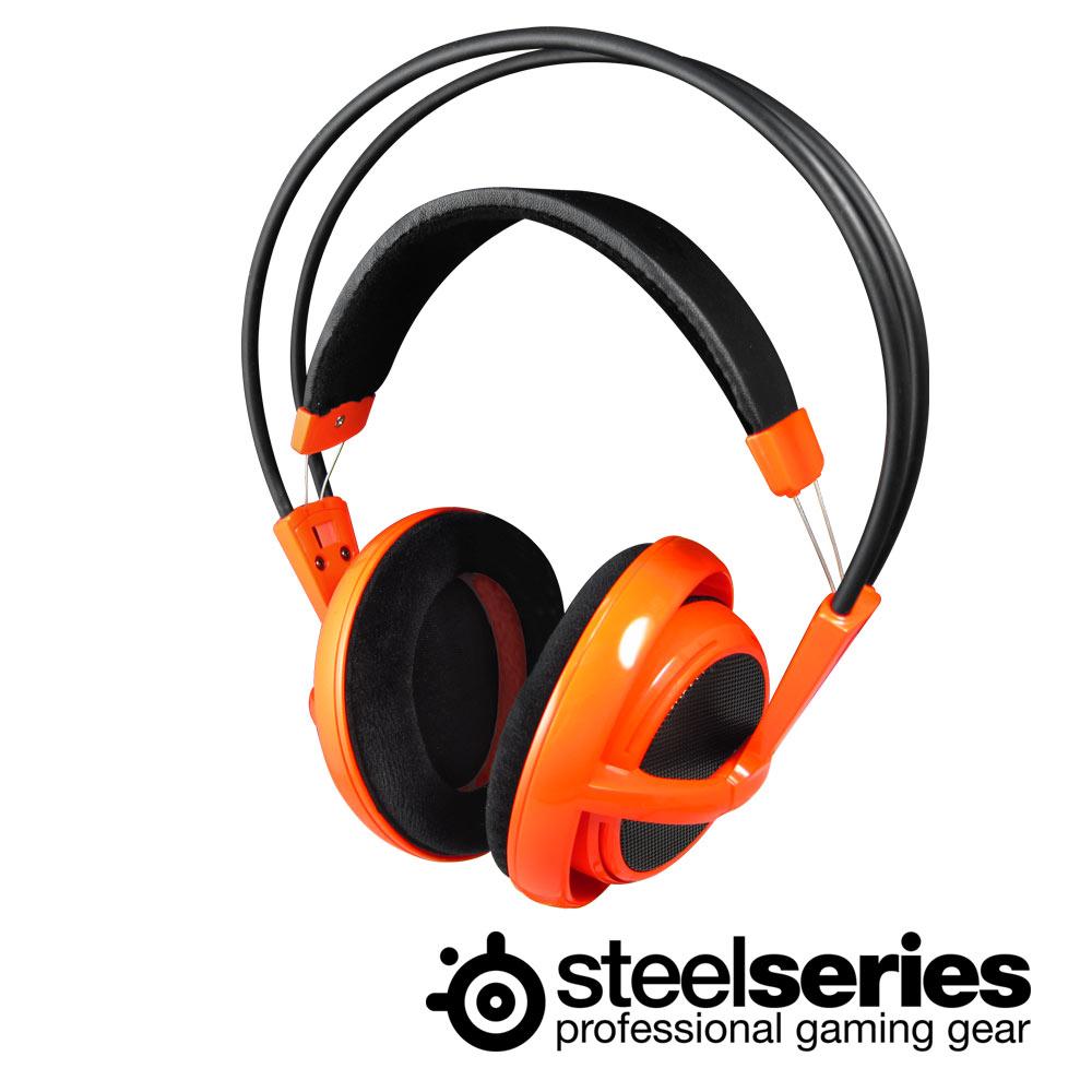 SteelSeries Siberia V1 頭戴式全罩耳麥(夕陽橘)
