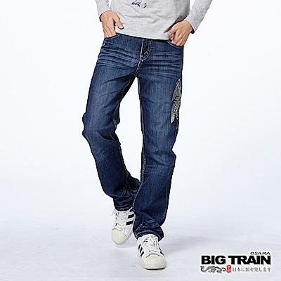 BIG TRAIN 鯉魚直筒褲-男-深藍