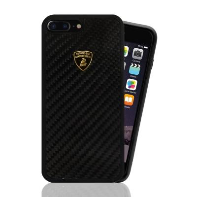 藍寶堅尼 原廠授權 iPhone 7 plus 碳纖維 手機殼-卡夢黑