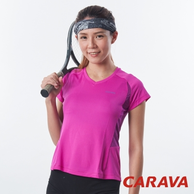 CARAVA-女款抗菌排汗T-紫羅蘭