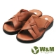 W&M 交叉寬帶 露齒涼鞋 男鞋-棕(另有黑) product thumbnail 1