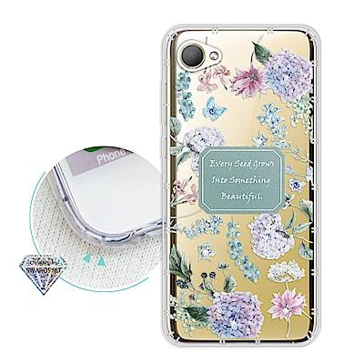 浪漫彩繪 HTC Desire 12 水鑽空壓氣墊手機殼(幸福時刻)