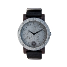 Plantwear 手工木製手錶 Raw 雙環板岩-黑檀木/42mm