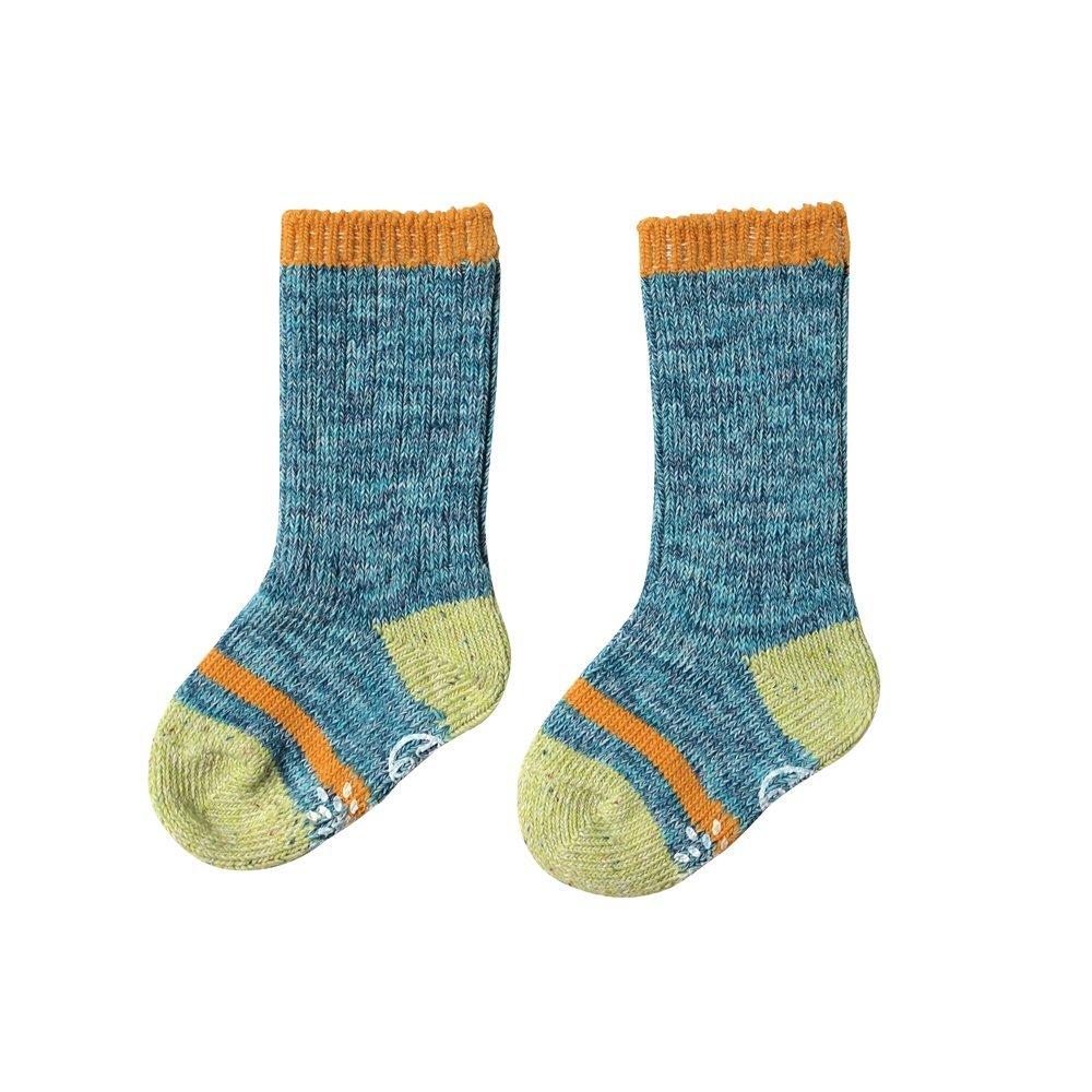 【BOBO】繽紛彩虹小腿肚襪(藍)