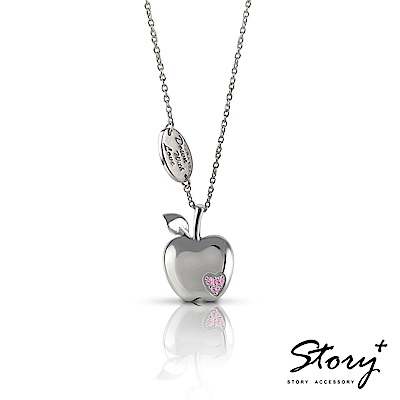 STORY ACCESSORY-就想賴著你 粉紅之戀 純銀項鍊