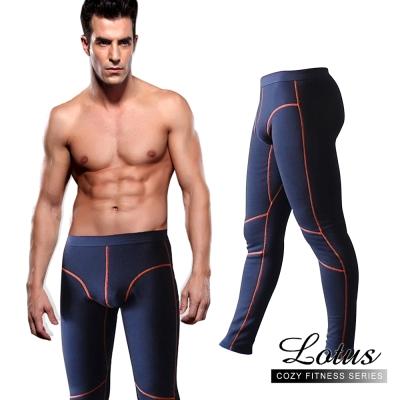保暖褲不倒絨凸囊設計立體保暖褲 藏青色LOTUS
