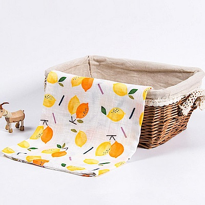Baby unicorn 雙色檸檬竹纖維嬰兒包巾
