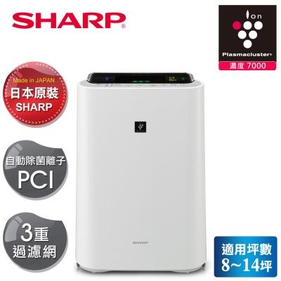 SHARP 夏普 日本原裝水活力空氣清淨機KC-JD60T-W 白色