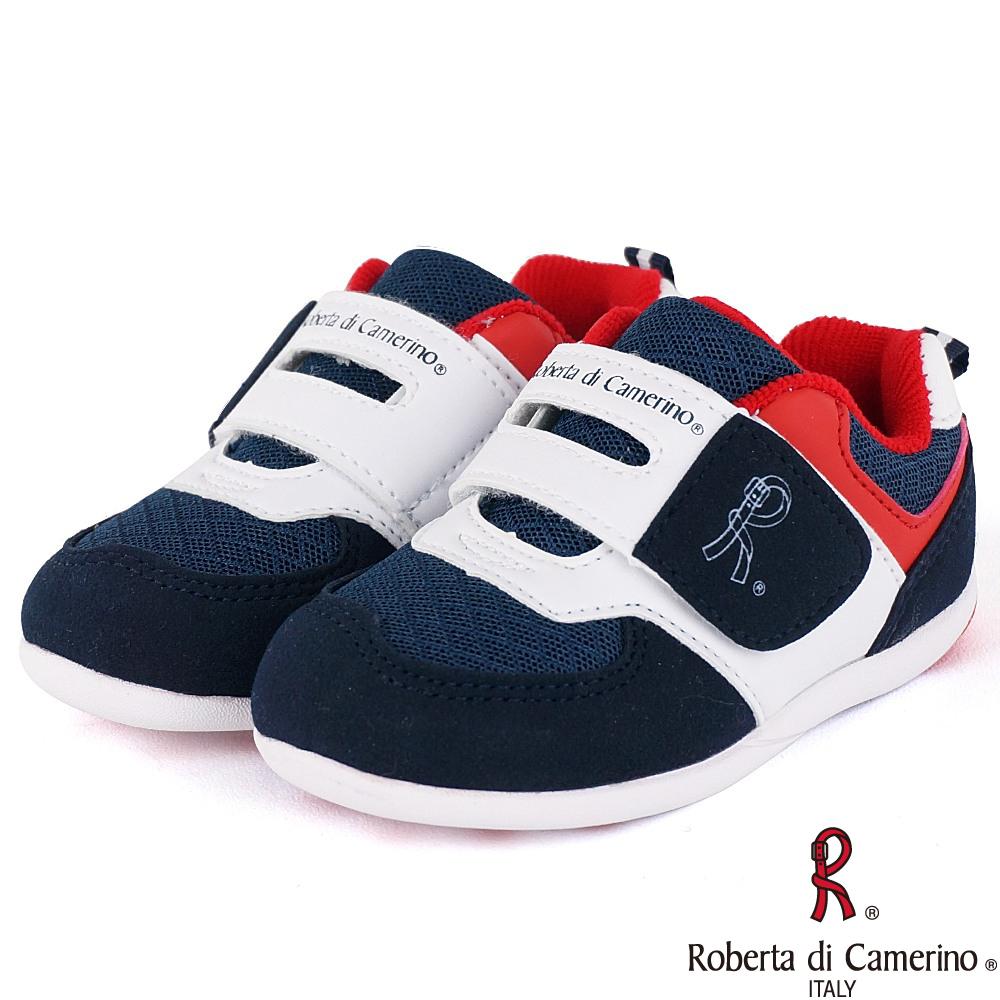 Roberta諾貝達 寬楦透氣防臭健康矯正機能童鞋-藍紅