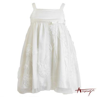 Annys純真純白立體花朵系肩禮服*2101白
