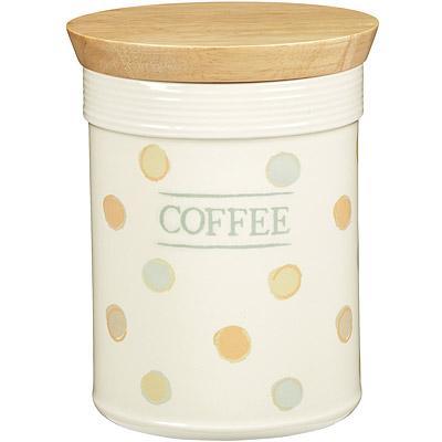 KitchenCraft 咖啡木蓋陶罐(復古點)