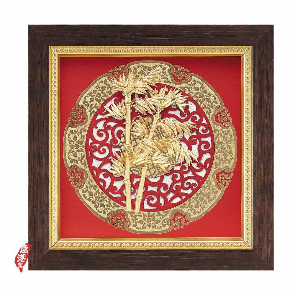 My Gifts-立體金箔畫-節節高陞(圓形窗花系列20.5x20.5cm)