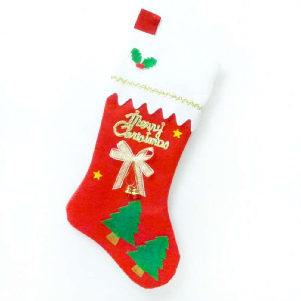 可愛16吋裝飾紅色 聖誕襪/耶誕襪