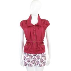 LOVE MOSCHINO 紅色抓褶口袋短袖小外套(附腰帶)